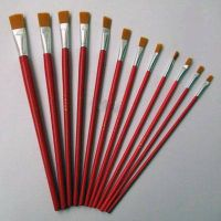 12pcs per set paint brushes for oil acrylic and watercolor painting for school beginner kids