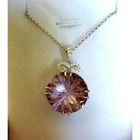 Silk thread jewelry America Hot Selling New Fashion earring Wholesale purple semiprecious pendant