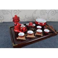 Lanteng China Red Porcelain Tea Set