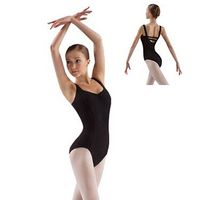 two band tab back ballet dance leotards BL638