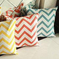 100% cotton chevron decorative pillow case