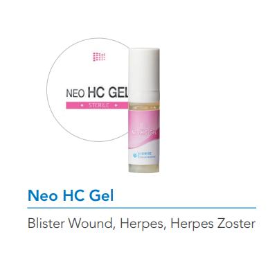 Neo HC Gel wound care gel for herpes virus