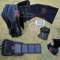 Mobile Solar Charger Pack With 20 watt Solar Panel Portable Hand bag