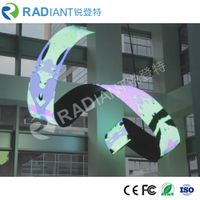 High refresh P6 soft module advertising flexible led curtain screen