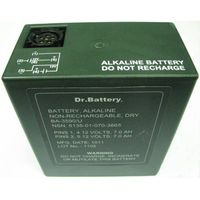BA-3590/U,15V/30V,7Ah/14Ah,military alkaline battery pack,meets the Military Standards MIL-B-49030(E