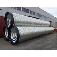 Galvanized corrugated steel tube Corrugated steel pipe with China factory price