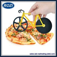 Bicycle Pizza Cutter Dual Stainless Steel Bike Pizza Cutter Wheel thumbnail image
