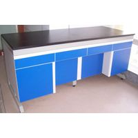 lab furniture steel wood laboratory side table wall bench