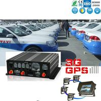WKP 4CH SD Card Vehicle MDVR CW Series Car Video Monitoring Security 3G, WIFI, GPS