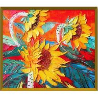 Sunflower Oil Painting Wall Art for Decoration