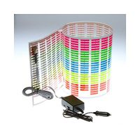 Car Sticker Music Rhythm LED Flash Light Lamp Sound Activated Equalizer (90x25cm)