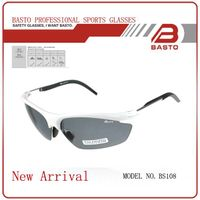 Newest outdoor sports sunglasses polarized sport sunglasses BS108 White