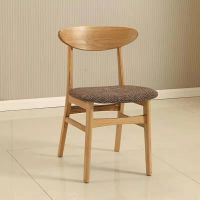Solid wood dining chair, ash wood design dining chair