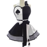 Classic Harley Quinn poker style black personalized monogrammed sexy cute woman cosplay apron