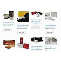 luxury brand sunglasses case box wholesaler OEM your own logo thumbnail image