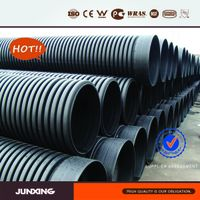 Double wall drain plastic pipe