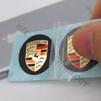 customize brand car logo sticker Porsche logo sticker