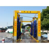 2016 new generation fully automatic tunnel bus wash machine,6 brushes truck wash equipment with CE