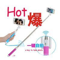 Self-timer Mobile phone Extendable Ski Pole Handle Telescopic Monopod KS-Z07-14