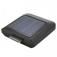 1100mAh Solar Emergency Charger for iPhone / iPod (Black)