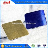 Satin blasting/ hairline Ti-brass Finish stainless steel decorative sheet/plate