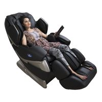 Full Body Massage Chair For Home And Office - Black (Luxury 3D Space Saving Design)