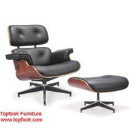 Eames chaise lounge and ottoman