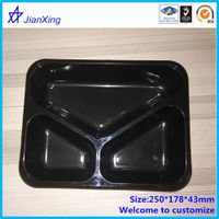 Plastic 3 compartment bento box