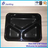 Plastic 3 compartment bento box