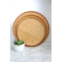 Woven bamboo basket trays thumbnail image