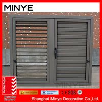 China factory aluminum windows with shutter