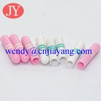 various color ABS plastic aglet shoelace tip plastic tip
