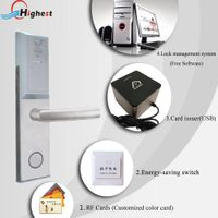high silicon aluminum alloy Electronic Rfid Hotel Digital Door Locks For Economic Hotel thumbnail image