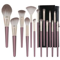 14 PCS Premium Makeup Brush Set Synthetic Cosmetics Foundation Powder Concealers Blending Eye Shadow thumbnail image