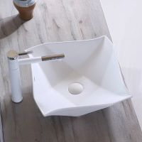 2018 bathroom latest design wash hand sink with white color
