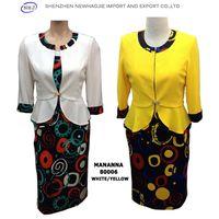 Yellow/White Jacket Color Circle Plus Size Clothing