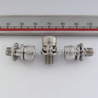 Stainless steel 304 cup head hexagon three Combination screws