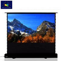 xy screen 3d 4k projector screen portable motorized floor rising projection screen