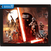 Star Wars The Force Awakens Rey Movie Lenticular Poster Printing 3D Effect Printing thumbnail image