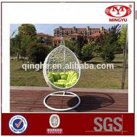 Iron frame hanging egg chair indoor rattan wicker adult egg shaped hanging swing chairs thumbnail image