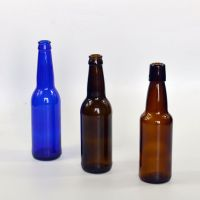 330ml amber color glass beer bottle with crown top