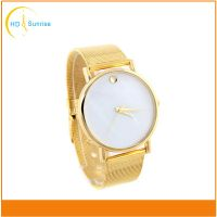 Gold color Luxury fashion lady watch Japan movt customized watch with your logo