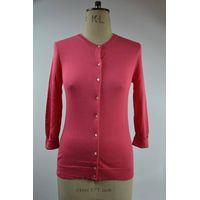 12STC0520 ladies' 3/4 sleeves single breasted cardigan sweater