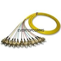 12 Cores FC/PC Bunch/Break out Fiber Optic Pigtail Single Mode With High Temperature Stability thumbnail image