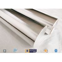 Laminated 0.45mm Thick Aluminium Foil Fiberglass Fabric