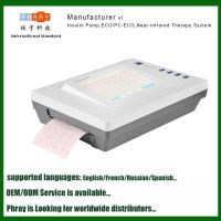 12 leads LCD touch screen dural mode digital intelligent ECG machine,factory wholesale