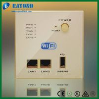 Flush Type Wall Mount Multifunction 4G Wireless Router with USB Charger and Double Lan Ports