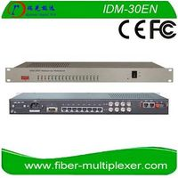 30FXO/FXS 2*100M Ethernet 4E1 over Fiber Telephone Transmitter