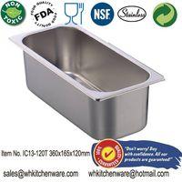 stainless steel ice cream pan/ gelato pan