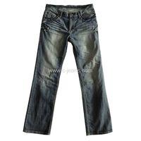 Classical Men's Denim Straight 5 Pockets Jeans thumbnail image